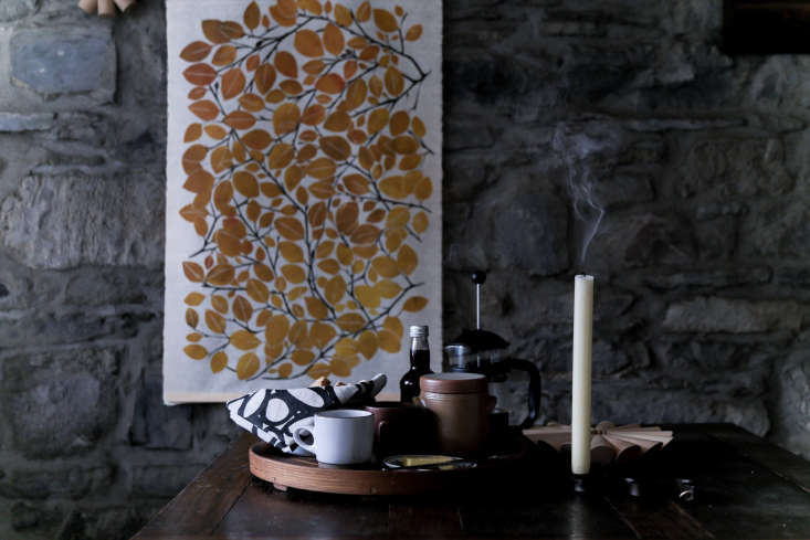 the print is autumn beech leaf, €\240 (\$\286.46), hand carved and block prin 16