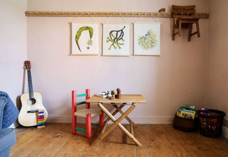 the room is also the play area, decorated with a trio of superfolk seaweed prin 21