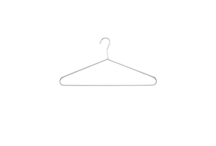 if you want to save on space, the container store&#8\2\17;s chrome hangers  16