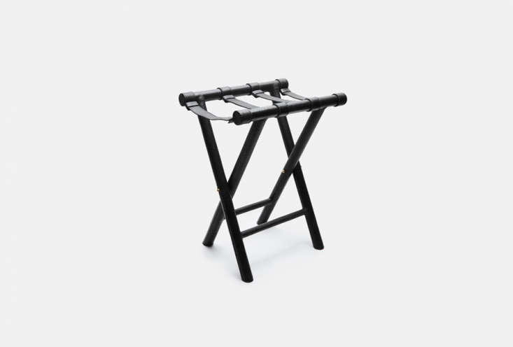 The Sol Y Luna Leather Wrapped Small Luggage Rack is a luxury option; it&#8