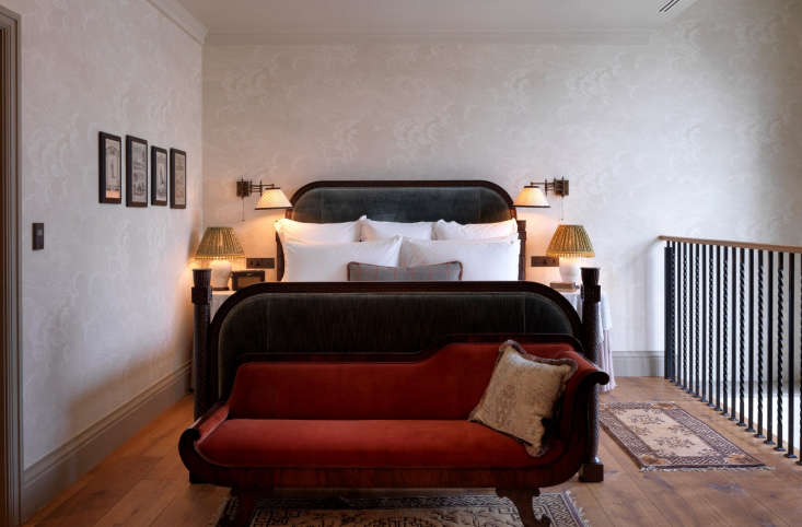 also available is the two story duplex suite, with red velvet settee, roll top  16