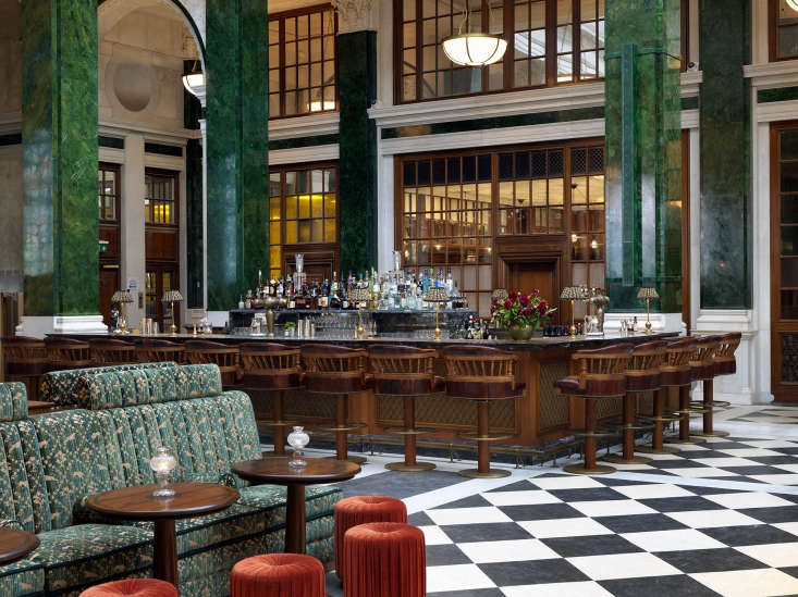 the nickel bar in the lobby, one of the hotel&#8\2\17;s nine establishments 21