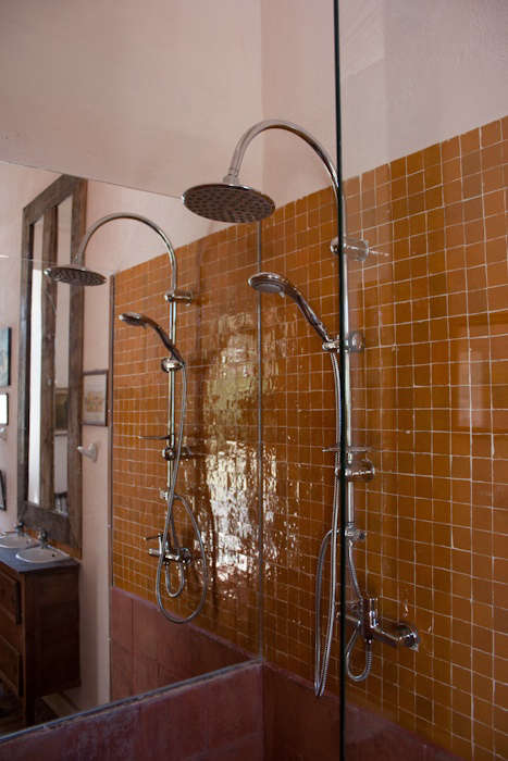 Shower in Double Superior Room at Uva do Monte in Portugal