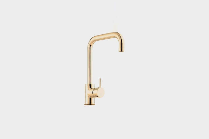 Steal This Look A Piggery Turned Kitchen Custom Larder Included The Vola Faucet with Double Swivel Spout in Unfinished Natural Brass is \$\1,63\1 at Quality Bath.