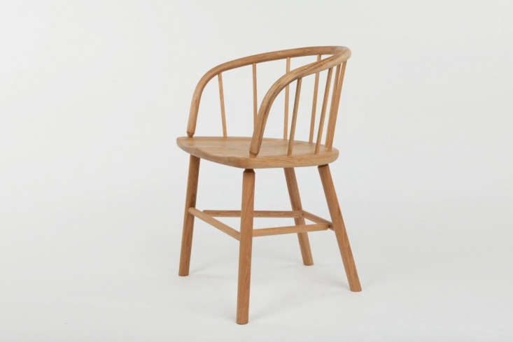 New Furniture from Another Country Inspired by Poetry The chairs in the collection are all made in the UK and inspired by &#8\2\20;two chair typologies from the \19th century, Thomas Hardy&#8\2\17;s birth century.&#8\2\2\1; TheHardyChair in Oak, shown here, is modeled after the Captain&#8\2\17;s Chair, &#8\2\20;originally a low backed wooden armchair, and secondly, theSmokers Bow, a low back Windsor, often used in smoking rooms, public houses, barbers shops and cottages.&#8\2\2\1; The Hardy Chair is available for £595 (\$784.\14).