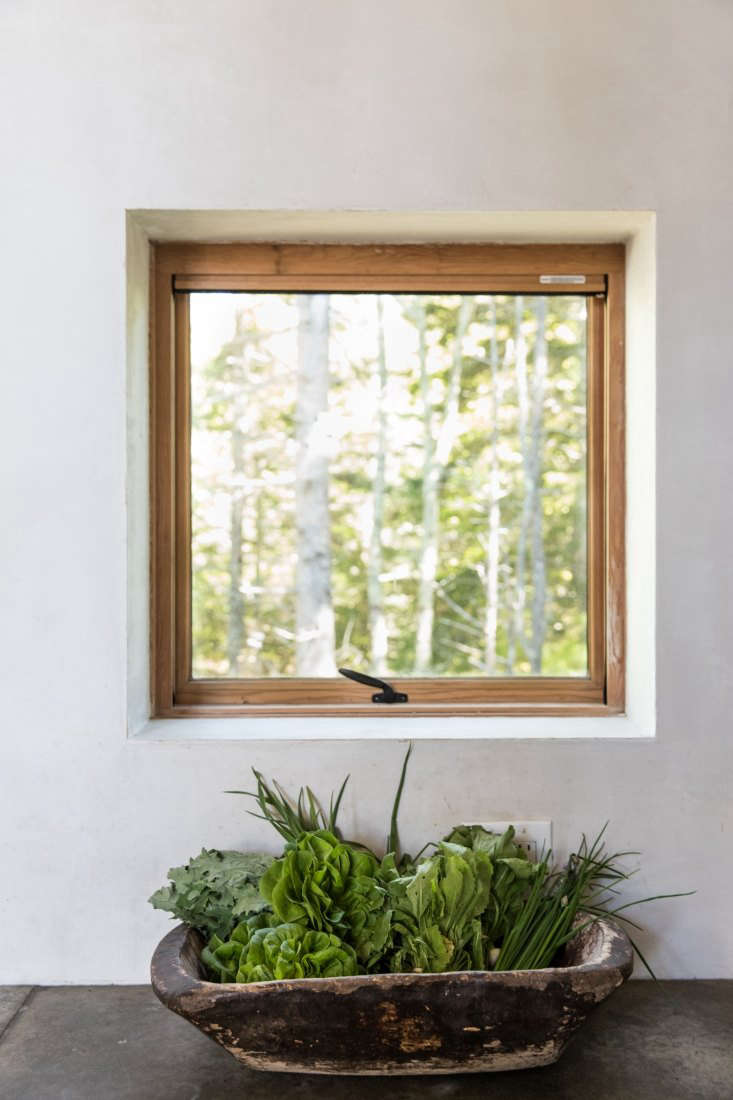 soot house kitchen window by anthony esteves on spruce head in maine, photo by  13