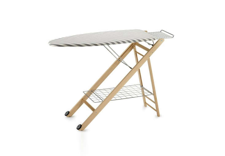 Another ironing offering: the Compactstir Folding Ironing Boardfolds and is on casters; $4 via Amazon.