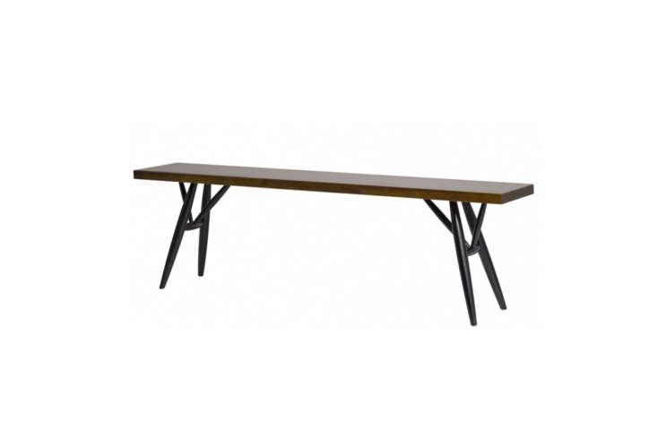10 Easy Pieces Versatile HardWearing Wood Dining Benches ThePirkka Bench is designed by Ilmari Tapiovaara for Artek; \$\1,\2\25 at Matter in New York City.