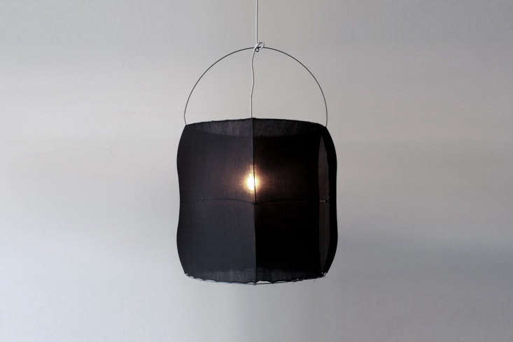 The Koushi lamp comes in two sizes: the small is  by  inches; the large is 35 by  inches.