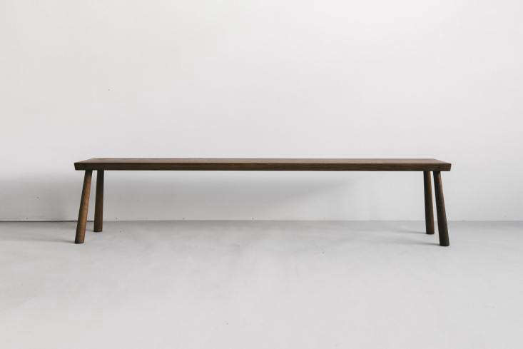 10 Easy Pieces Versatile HardWearing Wood Dining Benches The Blackcreek Mercantile & Trading Co. Bench is made in a dark oiled oak; \$760 at March.
