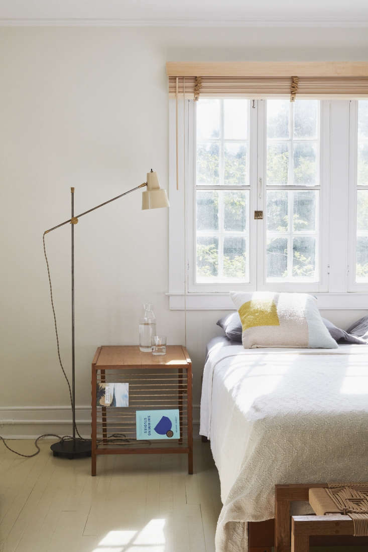 Remodeling 101 Bedside Lighting Vintage floor lamps flank the bed in a bedroom by designer C.S. Valentin; see Steal This Look: An Idiosyncratic French Mod Bedroom in Bellport, NY. Photograph byJonathan Hökklofor Remodelista.