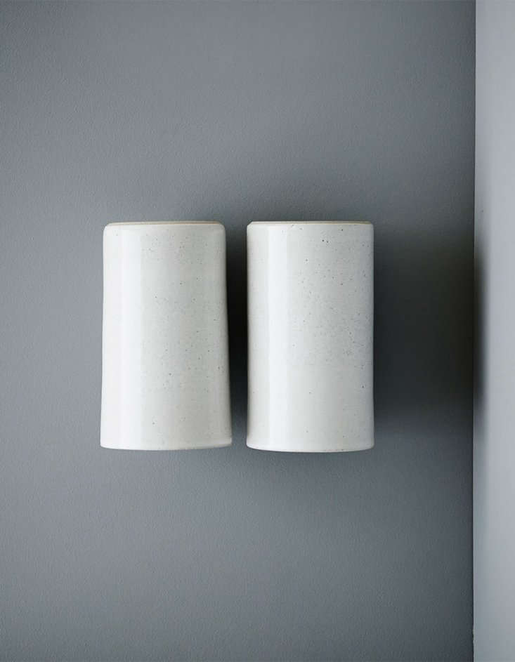 Earth Wall Light (double) in speckled white.