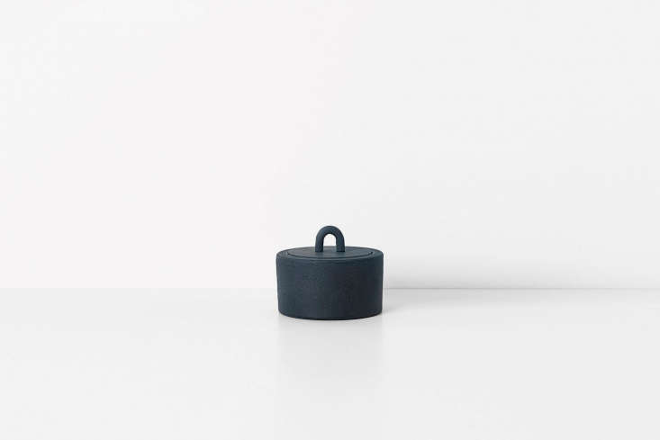 The Ferm Living Buckle Jar in Dark Blue is €35 at Ferm Living.