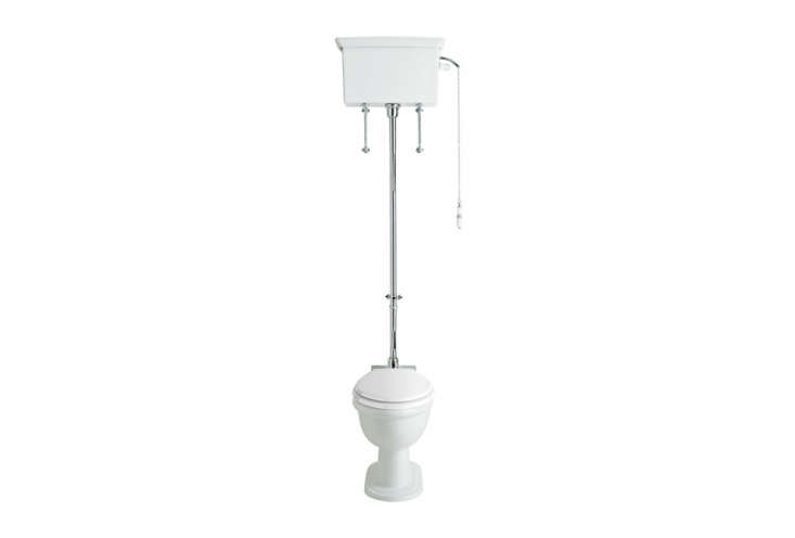 The Heritage Victoria High Level WC and Cistern with Flush Pack has chrome plating and is £666.50 ($884.9loading=