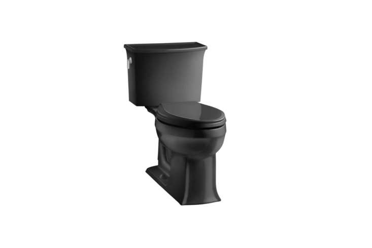 the kohler archer \2 piece elongated toilet in black is \$647.9\1 at all modern. 12
