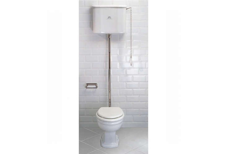 The Lefroy Brooks La Chapelle High Level Toilet is a style (the La Chapelle) designed in France in the early th century. It comes with chrome, silver nickel, and antique gold accents; £loading=