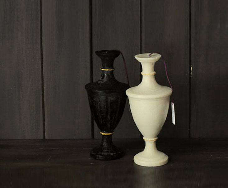 from japanese company magiera, the night candle, in black, is designed like a v 17