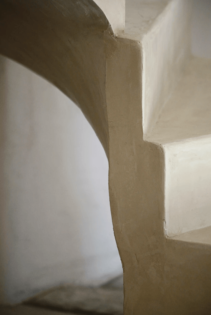detail of stairway in hall at maison collongue in provence 11