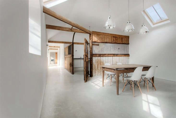 the architects converted the interior into a three bedroom house using the elem 12