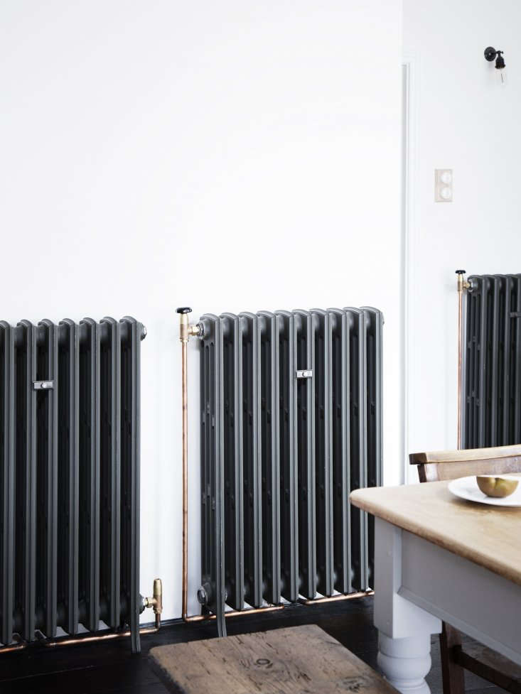 Kitchen of the Week A Family Gathering Spot in a London Victorian The new, old fashioned cast iron radiators are the Radiator Company&#8\2\17;sLedbury design with exposed copper piping: &#8\2\20;The refurbished radiators I&#8\2\17;ve found are just a pain in the ass,&#8\2\2\1; says Lewis.