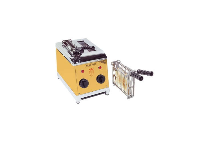 10 Favorites DesignForward Countertop Appliances from Around the World Milan Toast is an Italian company manufacturing hotel and catering equipment. The Milan Toast Sandwich Makerin gold (it also comes in orange, red, black, and silver) is €35\2 (\$4\17) at Milan Toast.