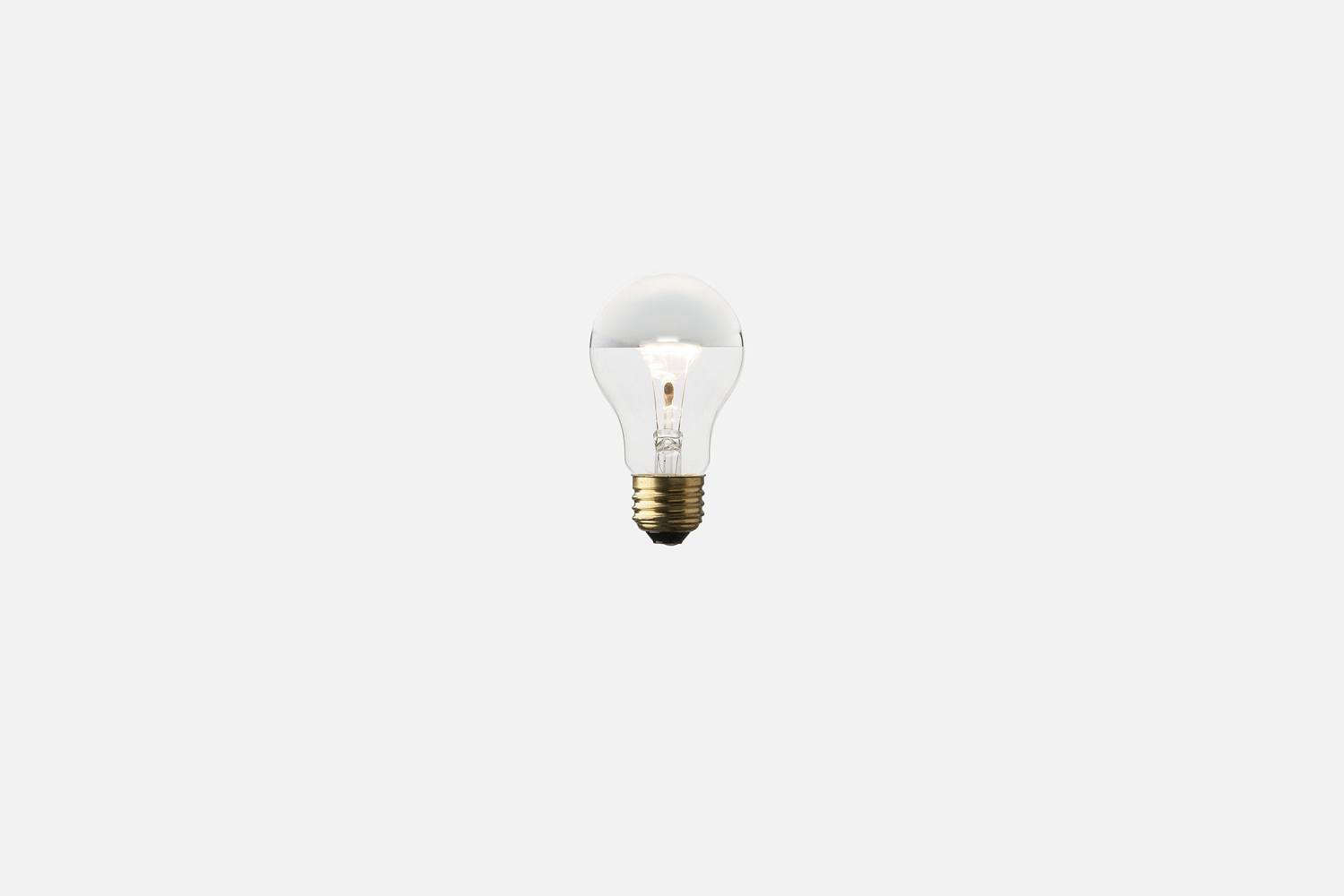 Pair the light with a Silver-Tipped Bulb for $8 from Schoolhouse Electric.