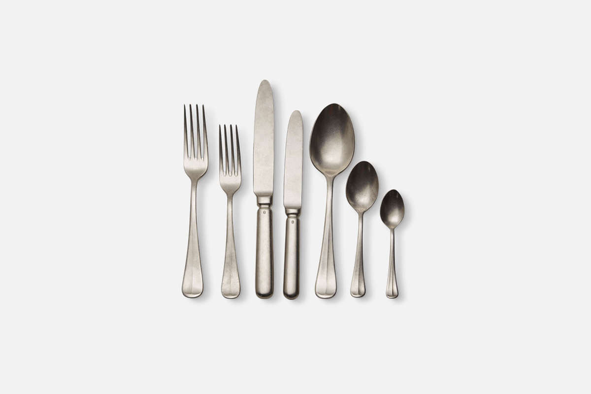 The Serax Surface Flatware is designed by Dutch chef Sergio Herman and available through Serax or Merci in Paris. Prices range from €8 ($) for the coffee spoon (far right) to €