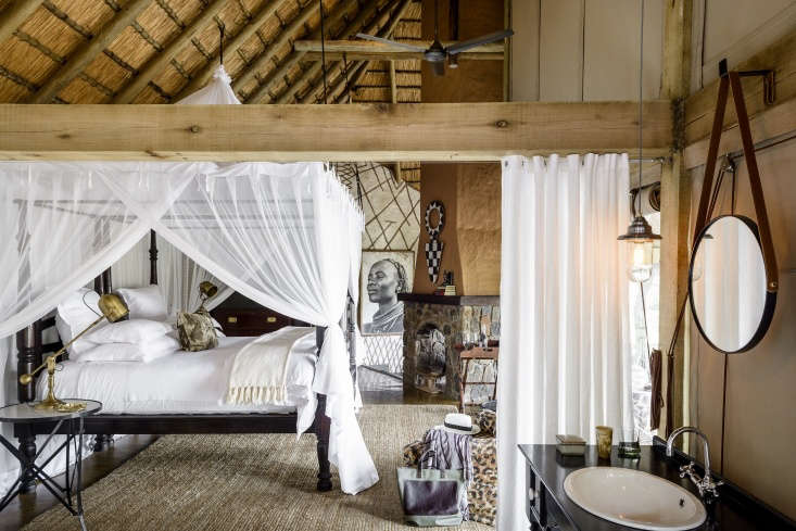 each guest room is unique but contains shared elements such as leadwood beams,  9