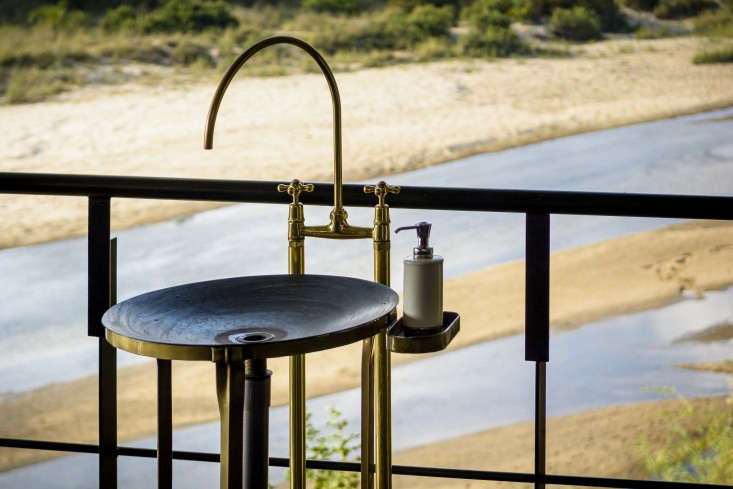 a brass outdoor use sink commissioned by cécile & boyd and created by a lo 11