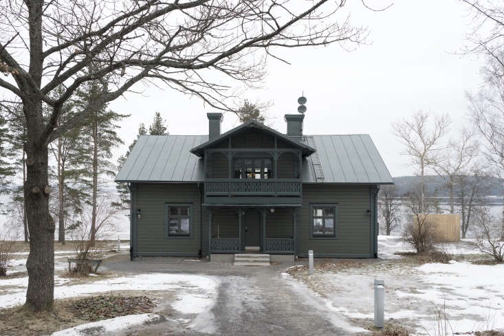 12 Favorites SnowCovered Cabins from the Remodelista Archives A \19th century house in Härnösand, Sweden, renovated by Sofia Nyman of Skälsö; see more atA Darkly Romantic House in Sweden by Skälsö Architects.