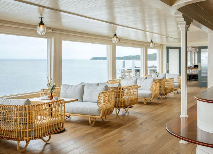 the casual lobby offers grand views of the ocean and was inspired by depot stat 11