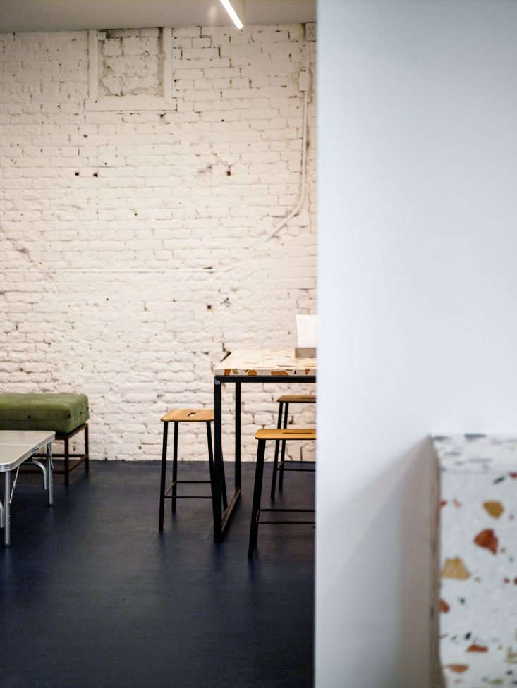 instead of focusing on the walls, flink wanted dramatic floors for the cafe. th 11
