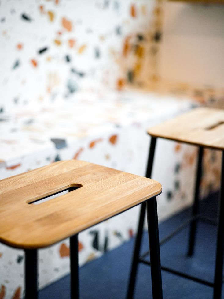 portable, unfinished wood and black steel stools from frama in copenhagen can b 10