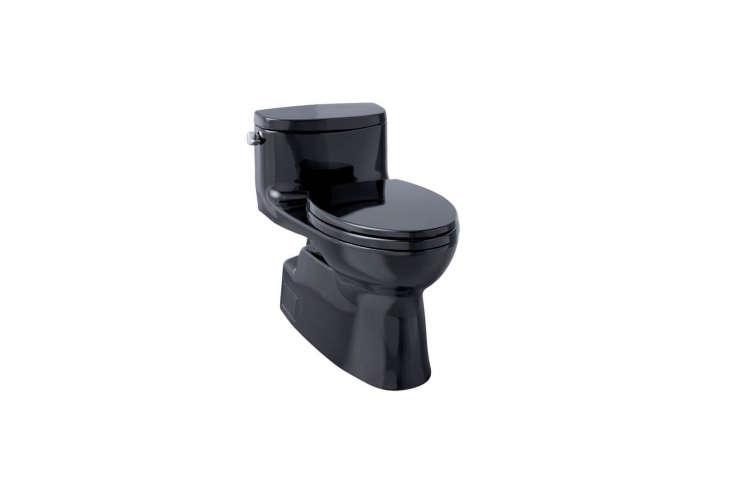 the toto toilet carolina \2 one piece elongated toilet in ebony black is \$\1,5 11