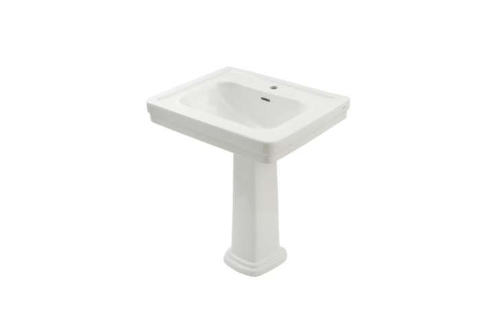 The well-priced Toto Promenade Pedestal Sink measures  by  inches; $33loading=