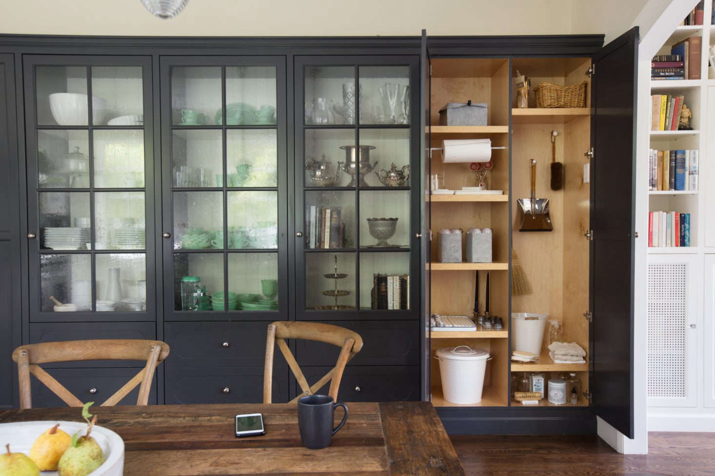 Plenty of storage, even without an island. Photograph by Mimi Giboin from What's Inside: The Stealth Utility Closet.