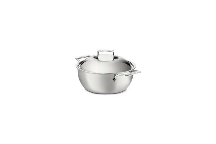 the all clad stainless steel dutch oven with a domed lid is \$334.95 on amazon. 24