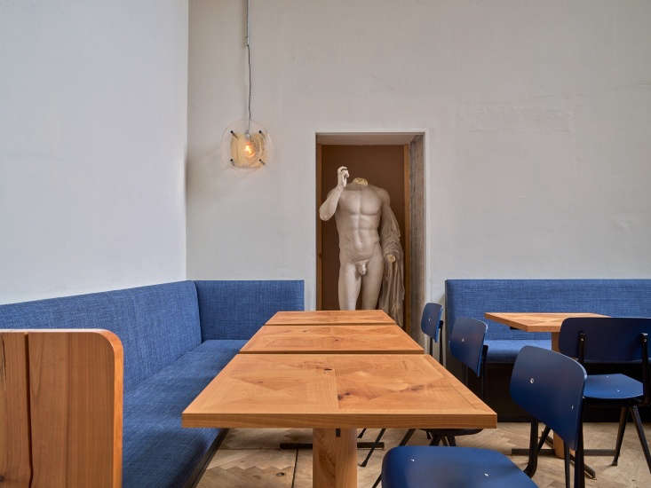 A statue of Apollo is tucked into a niche at Apollo Bar & Kantine in Copenhagen. (For more statuary in interiors, see Trend Alert: 9 Favorite Classical Statues in Interiors.)
