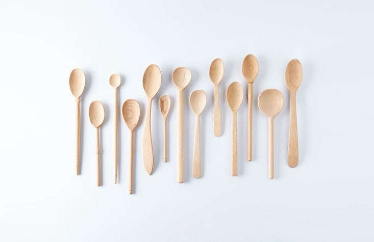We like good old-fashioned wooden spoons for every purpose on Thanksgiving, from mixing to taste-testing to serving. ThisBaker&#8