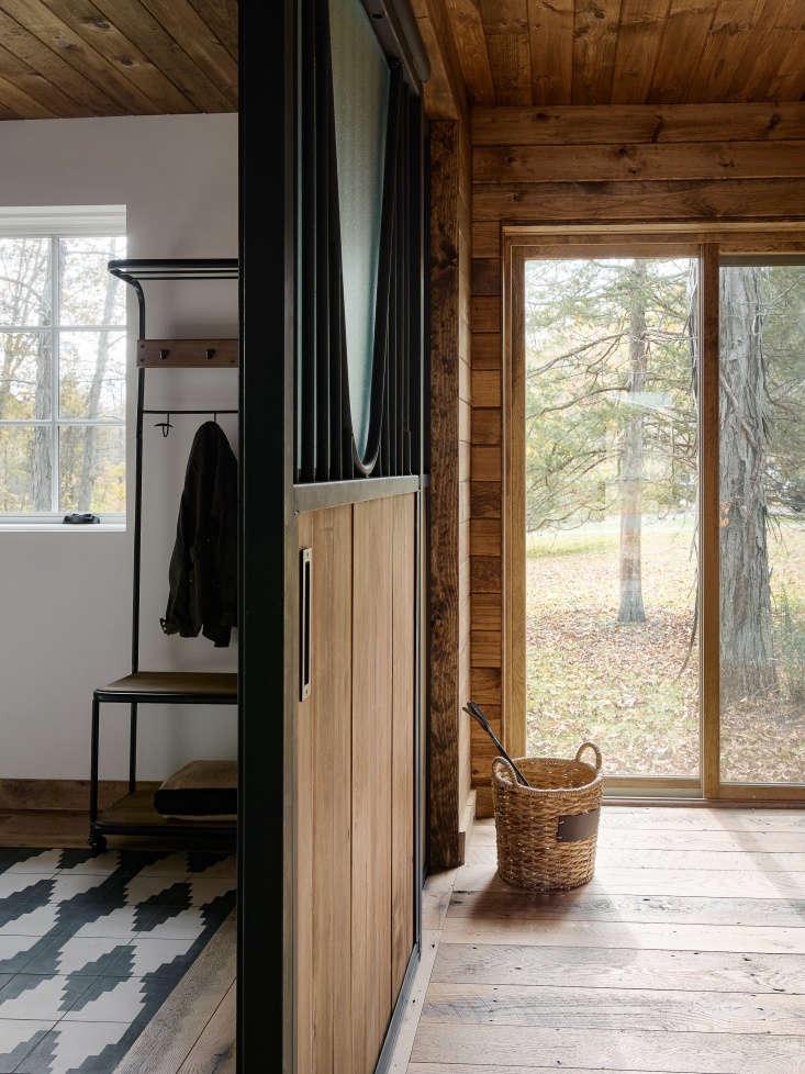 barn remodel catskills interior wood floors cladding 5