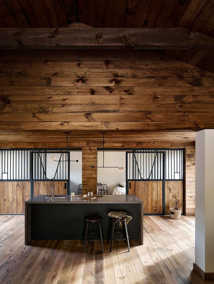 barn remodel catskills interior wood floors cladding
