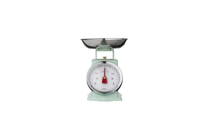 source a vintage kitchen scale from your local flea market or online like this  22