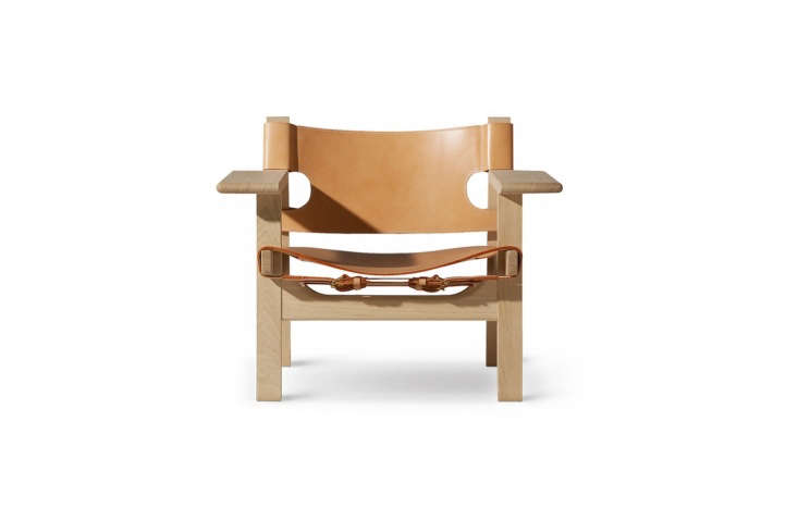 TheBørge Mogensen Spanish Chair in oak and natural leather is $4,657 at Danish Design Store.
