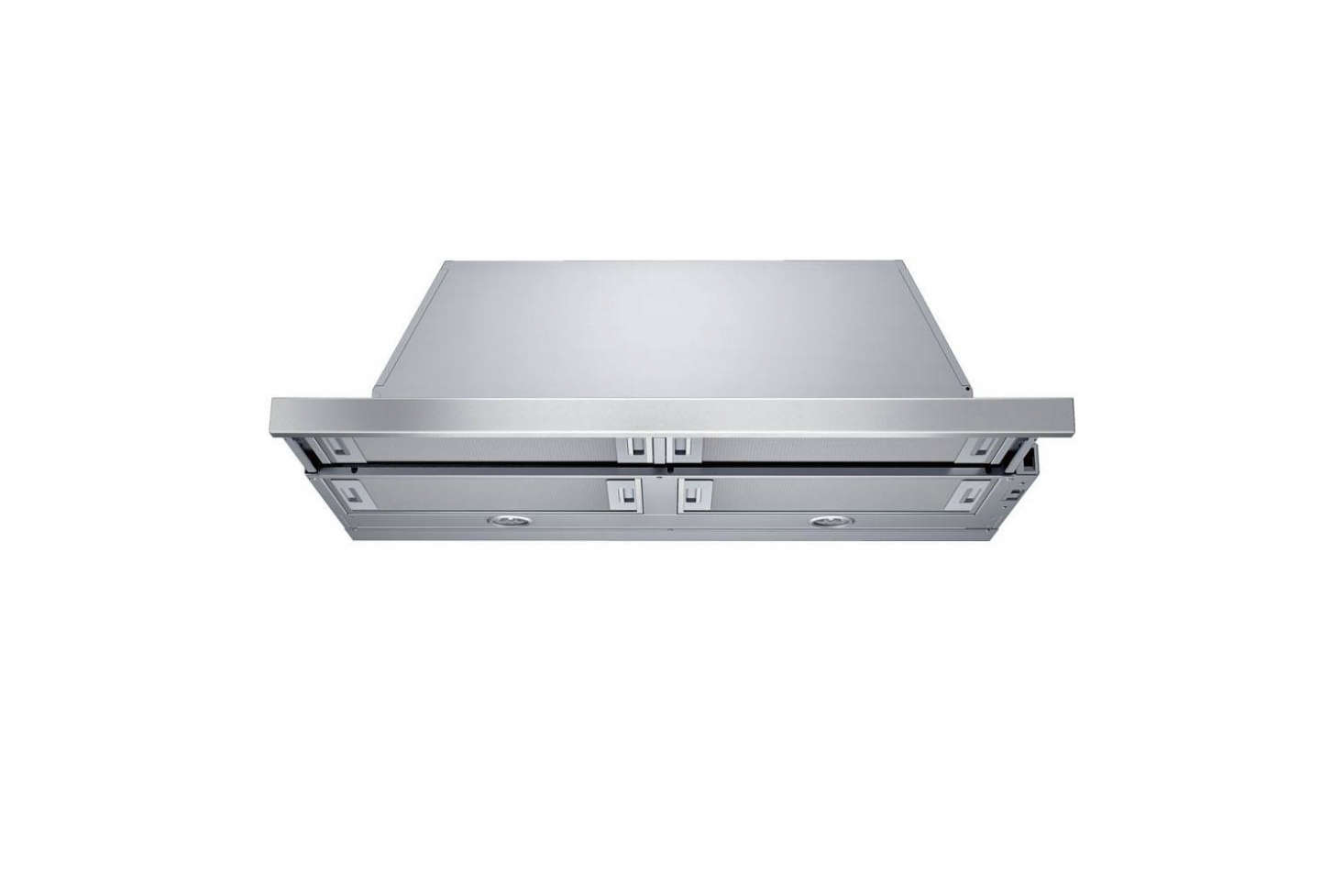The Bosch 500 Series 36-Inch Slide-Out Range Hood is $7 at Amazon. It slides in flush with the cabinets when not in use and the front is stainless steel—and also panel-ready.