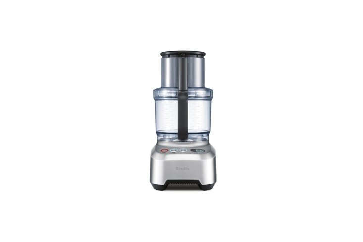 10 Easy Pieces Food Processors The Breville Sous Chef \16 Pro comes with eight precision tools and has a \16 cup capacity. Its ultra powerful motor, \1,\200 watts, is good for those who need a food processor more often than special occasions or holidays; \$399.95 at Breville. Note the Breville Sous Chef is the highest rated food processor on Consumer Reports with high marks for functionality.