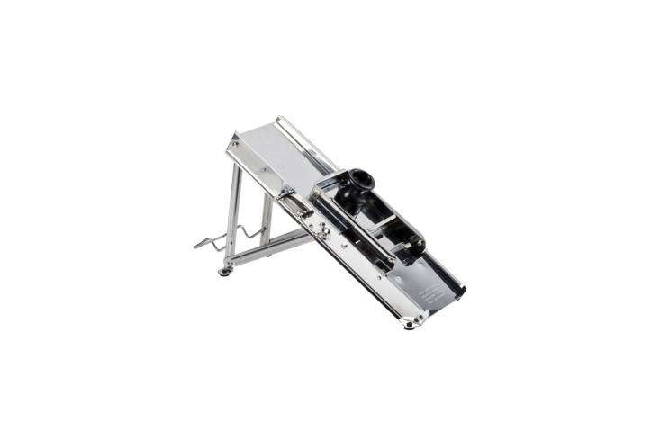 The Cutting Edge 10 Favorite Mandoline Vegetable Slicers The Bron Coucke Original Stainless Steel Mandoline is used in professional kitchens and can be used for julienne, matchstick, french fry, and waffle cuts on any vegetable; \$\166.79 at A City Discount.