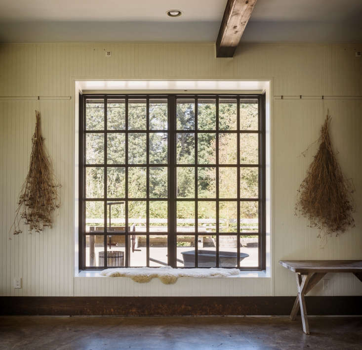 brown windows dried flowers old chaser farm