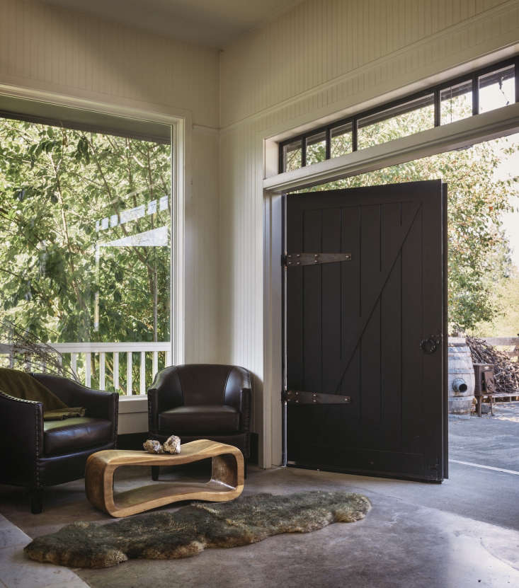 Dillon collaborates closely with friends, including woodworkerSteven Withycombe who made the custom barn doors shown here. &#8