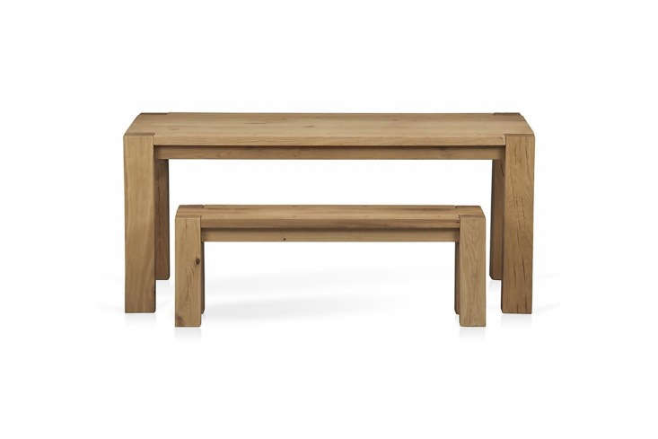 10 Easy Pieces Modern Farmhouse Dining Tables Big Sur Dining Table made from European white oak; \$\1,499 (65 inches long) or \$\1,799 (90.5 inches long) at Crate & Barrel.