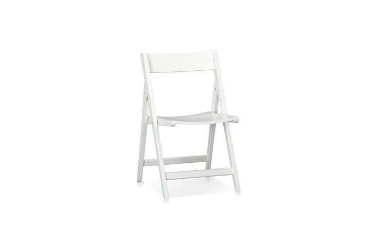 made in thailand, the solid rubberwoodspare white folding chair is \$49.95 fr 11